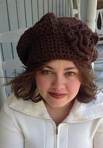 Cute & Sassy! #Crochet hat, Slouchy Crochet Beanie, brown crochet hat by #Zibbetflash #OnceUponARoll for $21.00