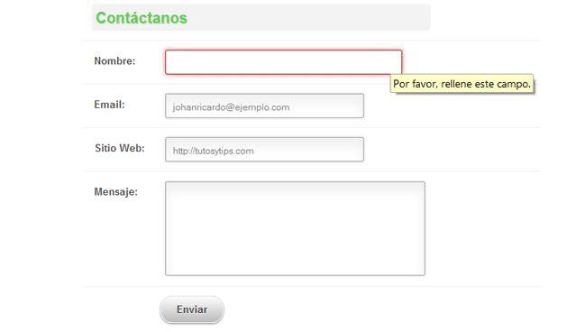Tutorial - Formulario de contacto en HTML5 Y CSS3 Tutos y Tips - lpo template word