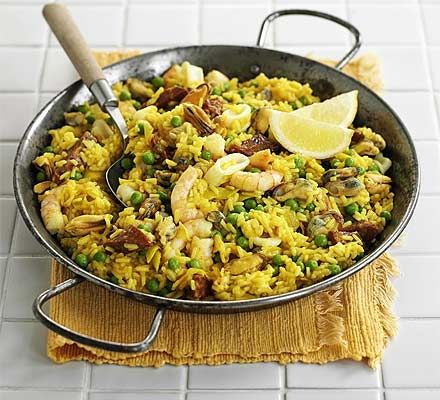 Easiest ever paella. Think paella's too much of a challenge? Think again, this easy recipe makes it foolproof and is full of fantastic flavour.