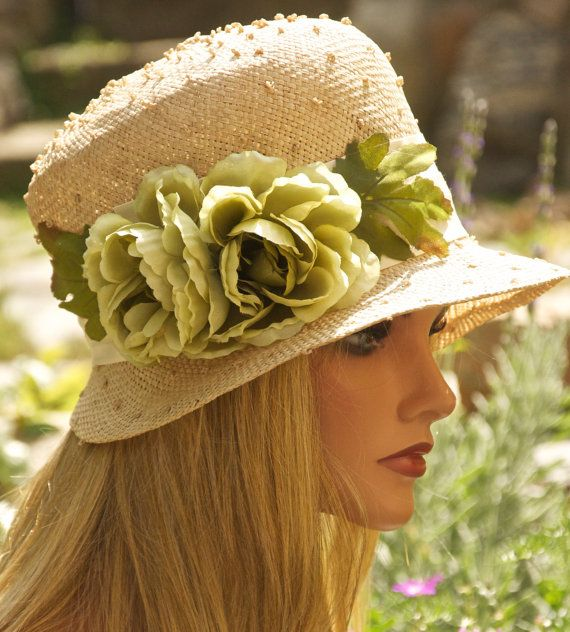 Wedding Hat, Kentucky Derby Hat, Cloche, Summer Hat. Garden Party tea Party Hat. ONE-OF-A-KIND via Etsy