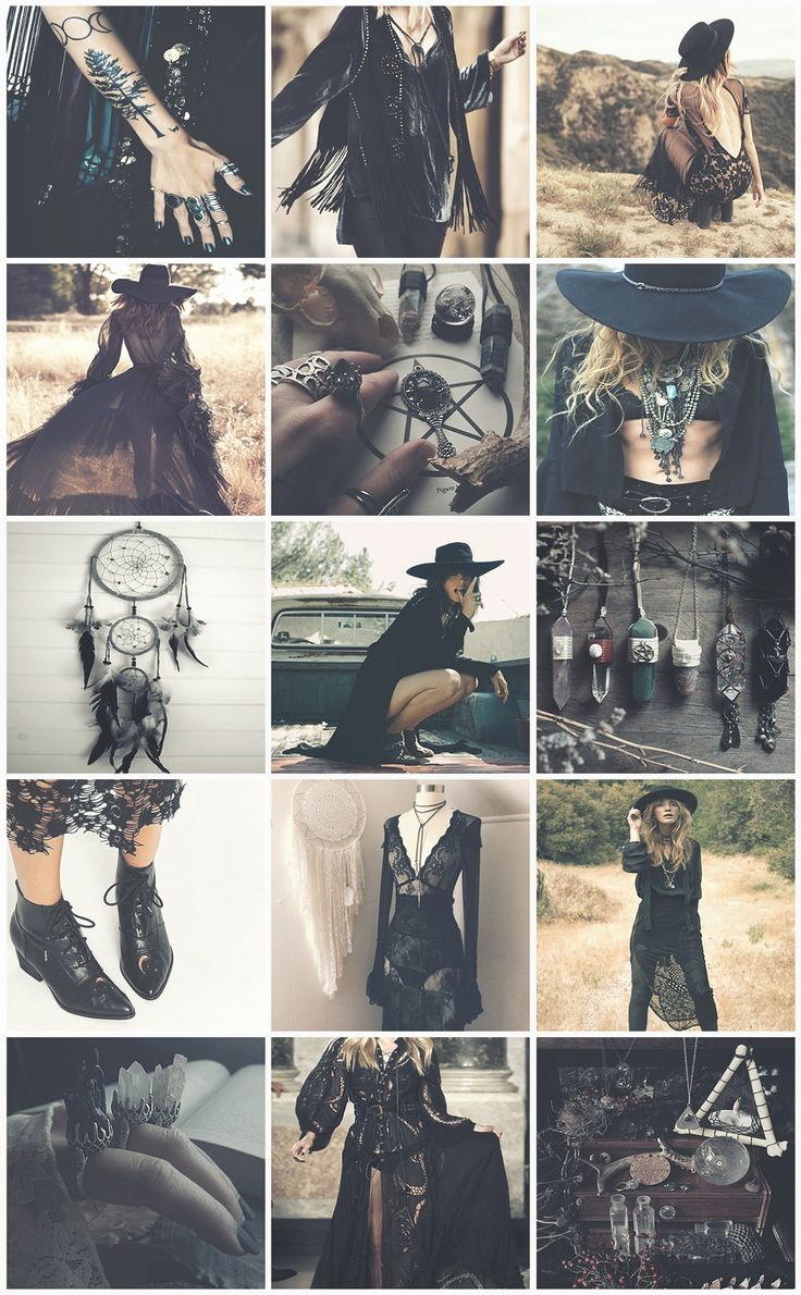 Boho Witches Series VIII - Goth aesthetic