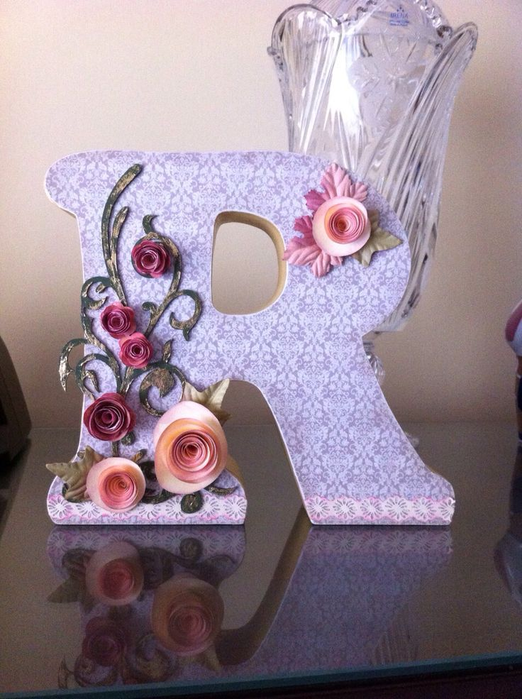 1000 images about letras letters on pinterest fabric covered paper mache letters and initials - Letras decoradas scrap ...