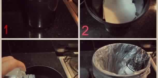 Réduire l'odeur et éviter les insectes, avec une préparation aromatisée de bicarbonate de sodium dissoute dans un peu d'eau. Suggestion d'arôme pour la cuisine: clous de girofle, cannelle et fleur d'oranger. -Vaporiser la poubelle...