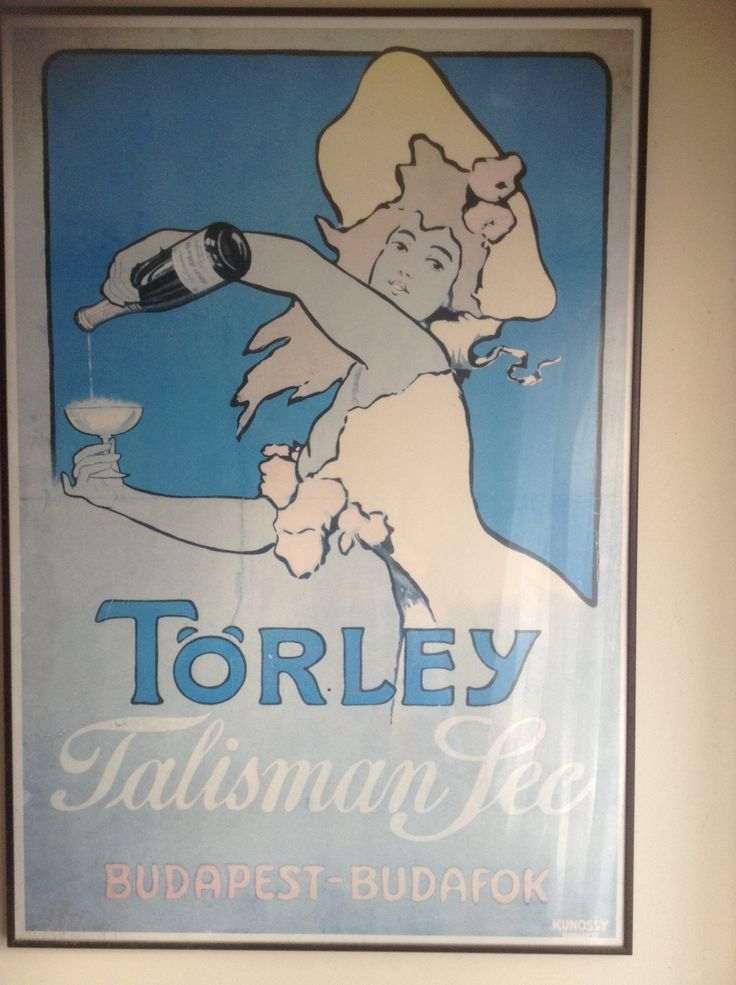 Retro poster about Hungarian champagne!