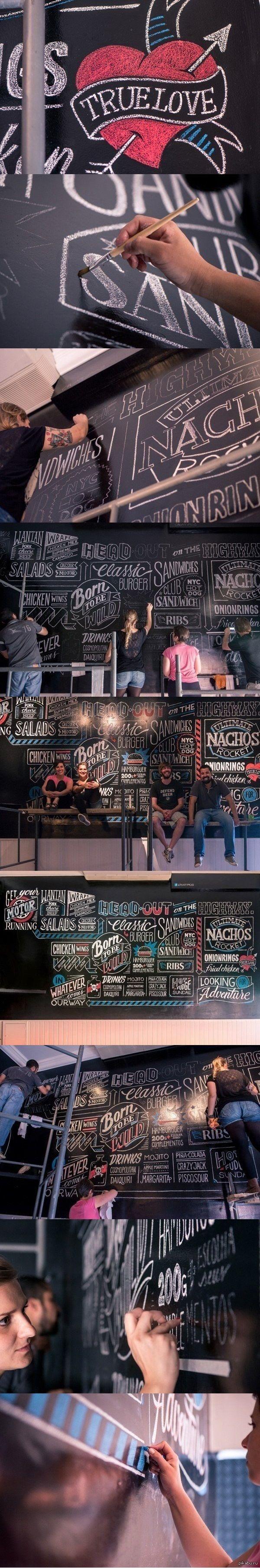 Процесс создания леттеринга кафе от студии Criatipos   длиннопост, леттеринг, кафе, дизайн
