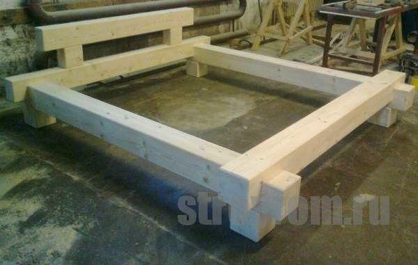 Balkenbett altholz  Bauanleitung Balken-Bett | Bedrooms, Woods and Bed frames