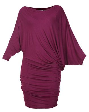 Look your best in this StellaDress by Michelle Ludek. This chic design displays a rich berry hue, whileit offers a soft fabric. Featuring a bateau neckline and a loose bodice, itgraduates into a fitted skirt around the thighs. Boasting three-quartersleeves, it is completed with a short hemline and gathering around the hips. Idealfor the girl-on-the-go, pair it with heels to go from your desk to dinner.