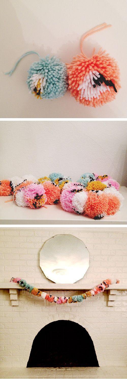 Pom-Pom Garland | 33 Awesomely Festive Ideas For DIY Garlands