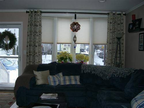 Best 25 Bow Window Treatments Ideas On Pinterest Kitchen Roman Shades And Living Room Blinds