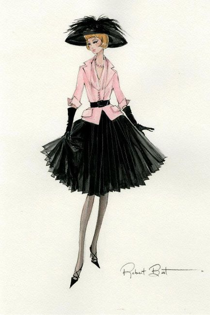 (¯`'•.ೋ…          Robert Best- Fashion Designer for Barbie Barbie Illustration - Silkstone by Robert Best