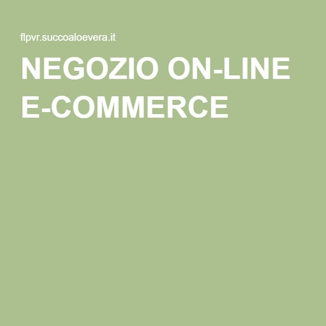 NEGOZIO ON-LINE E-COMMERCE