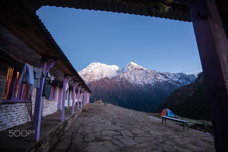 Annapurna roof - The Annapurna South and Hiunchuli peak as seen from Mardi HImal high camp, Annapurna region, Nepal.