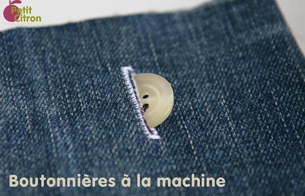 Coudre les boutonnières à la machine