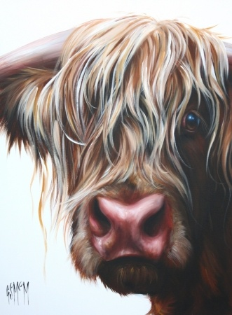 Highland Cow For Oils Acrylics on best gps for cars garmin