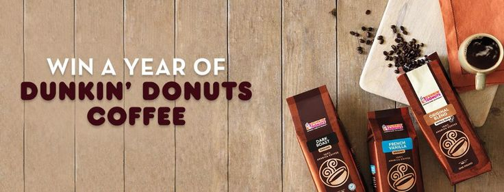 Blog post at Couponing 4 You :   //   //     Enter to win a free year of Dunkin' Donuts coffee! Five lucky winners will be chosen.   Ends 6/14  Get your entry[..]