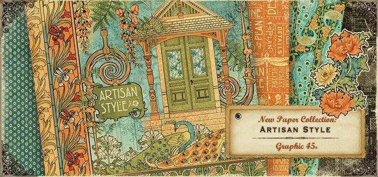 """Esta semana en Zoográfico, os presentamos la colección """"Artisan Style"""", de Graphic 45...#Zoográfico #Graphic45 #Papeles #Scrapbooking"""