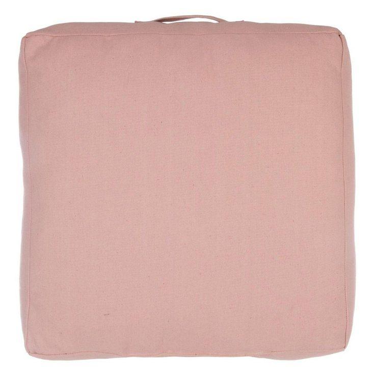 Coussin de sol rose Belle 50 x 50 x 15 cm rose