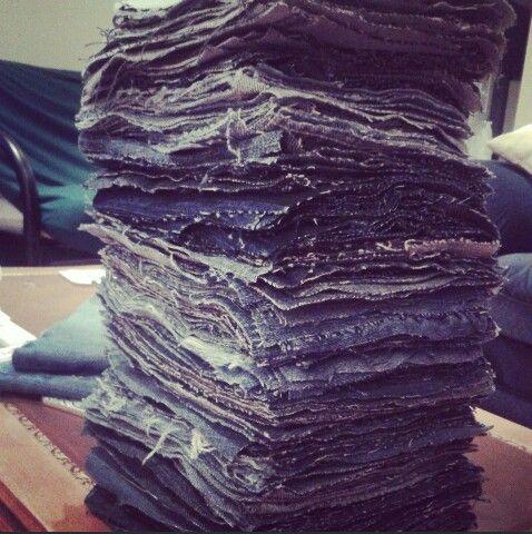 Finally ready to start my jean blanket!
