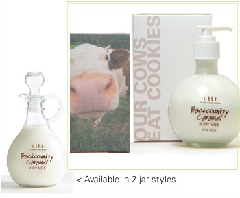 """our cows eat cookies"" - love FarmHouse Fresh products. and simply adore all of their packaging!"