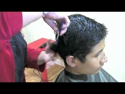 Como cortar el cabello a un niño, How to cut short hair step by step - YouTube