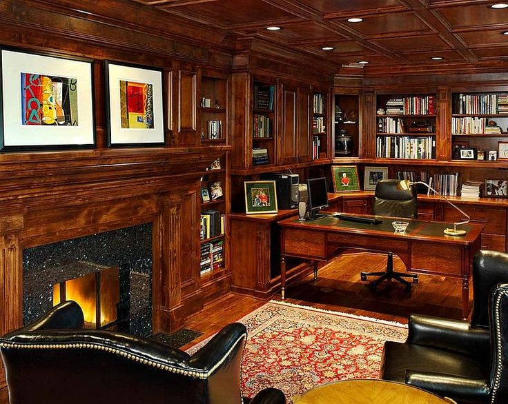 100 Vintage Traditional Home Office Design Ideas