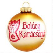 Hungarian Christmas Custom Ornament  border=