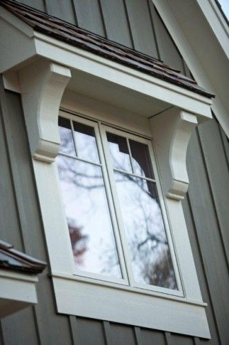 Love this window . . These accents make it look purposeful and elegant. Cost was about $40!: