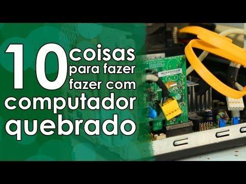 Aprenda 10 coisas para fazer com seu computador velho  | #ManualMundo, #Reciclagem, #Sustentabilidade