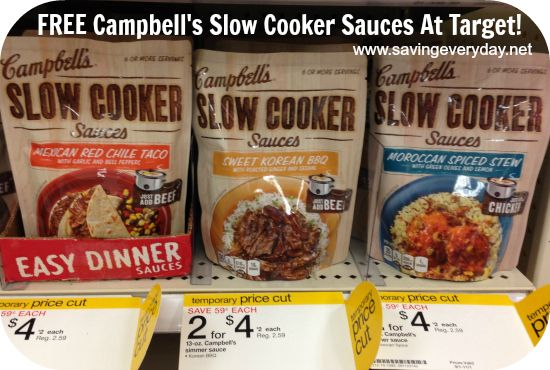 FREE Campbell's Slow Cooker Sauces At Target!!