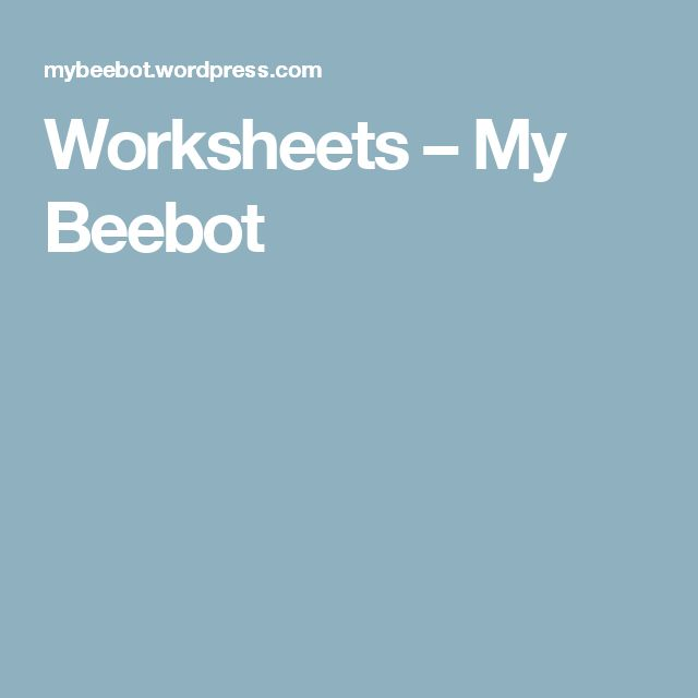 Worksheets – My Beebot