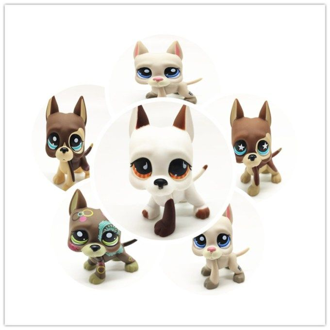 New Lps Pet Shop Toys Great Dane Cocker Spaniel Dog Free Shipping Short Hair Cat Black Pink White Collection Cosplay Children