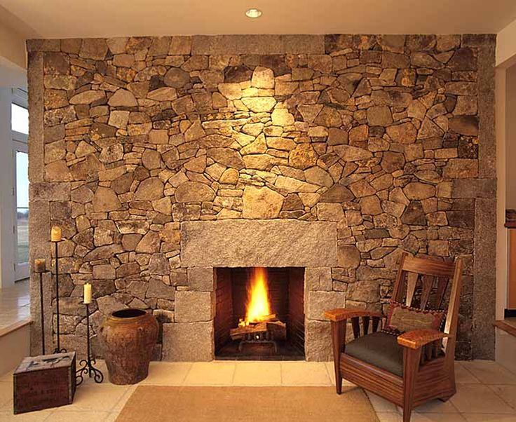 Love The Large Stones That Frame The Fireplace Opening