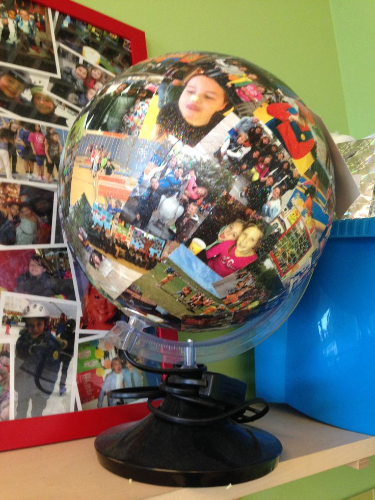 Persoonlijke wereldbal van de kinderen.