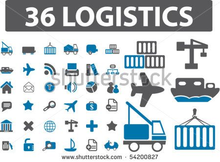 36 logistics signs. vector by VectorForever, via ShutterStock