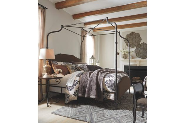 Brown Moriann Queen Poster Bed by Ashley Furniture