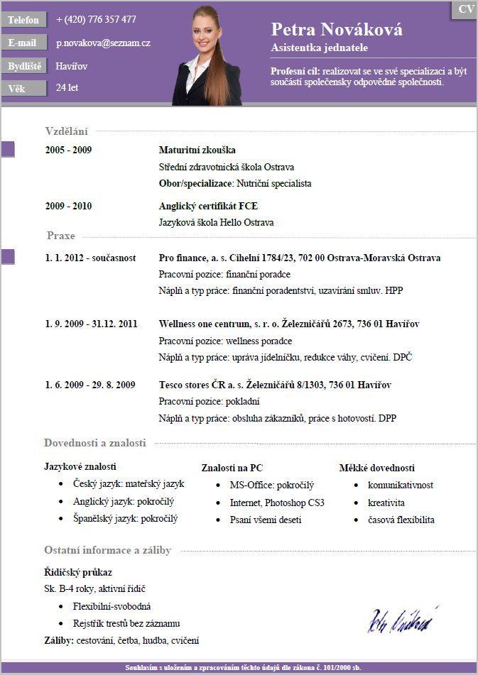 Pro-CV 7. vzor žena. Více informací zde http://www.pro-cv.cz/produkt/pro-cv-7-vzor-zena/