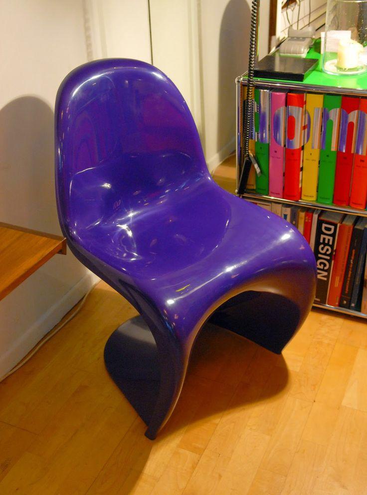 Panton chair violette, design Verner Panton pour Herman Miller/Fehlbaum, 1976.