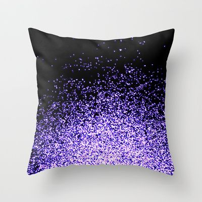 infinity in purple Throw Pillow by Marianna Tankelevich - $20.00