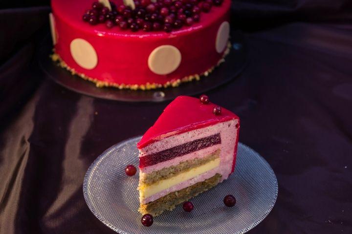 Торт-мусс с клюквой и пралине - пошаговый рецепт с фото - как приготовить - ингредиенты, состав, время приготовления