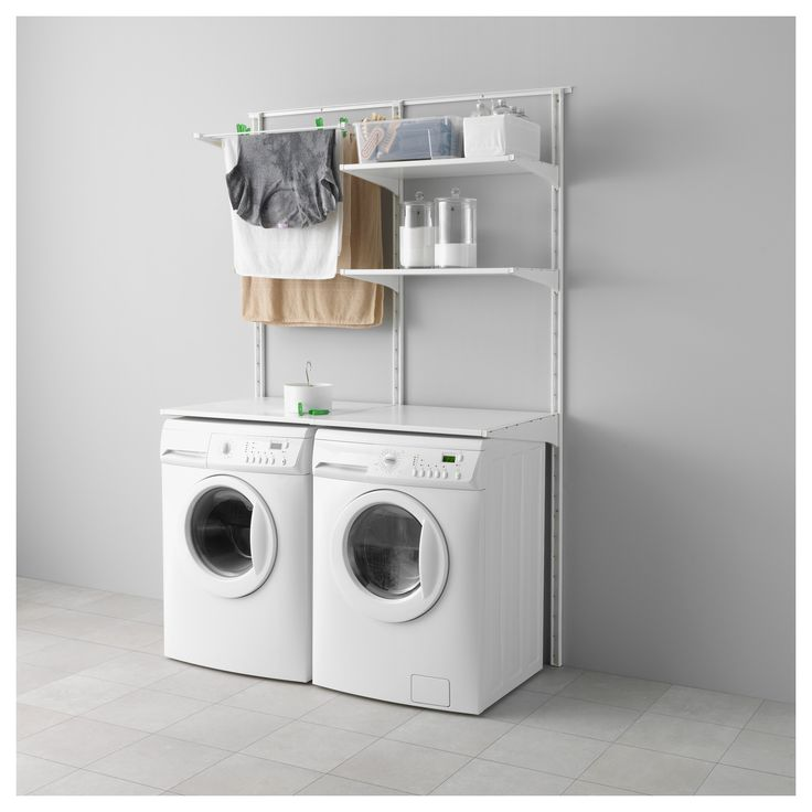 40 best images about laundry porn on pinterest wall racks shelves and washer and dryer. Black Bedroom Furniture Sets. Home Design Ideas