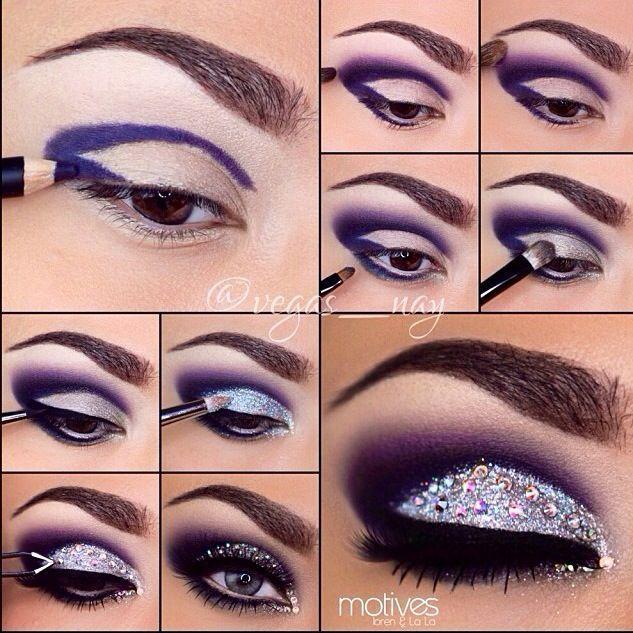 Glittered Eyes By Vegas_nay in Motives Khol Eyeliner(Amethyst) and Motives Glitter Pots (Diamond).   #Eyes #Diamond #Shop