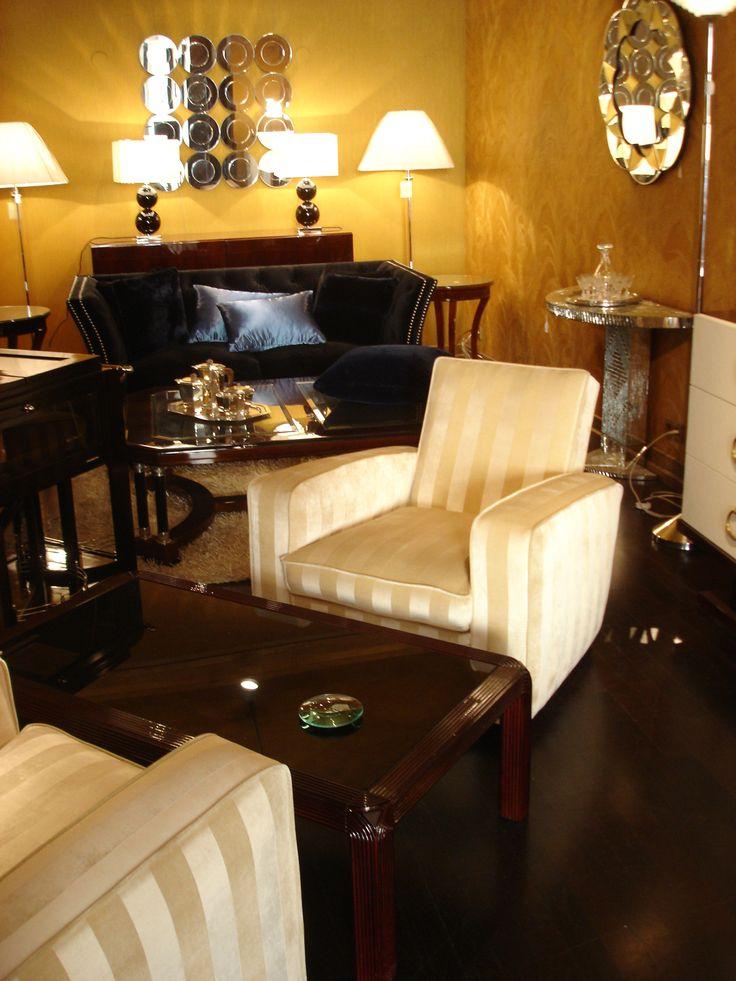 Huge Art Deco armchairs in the gallery
