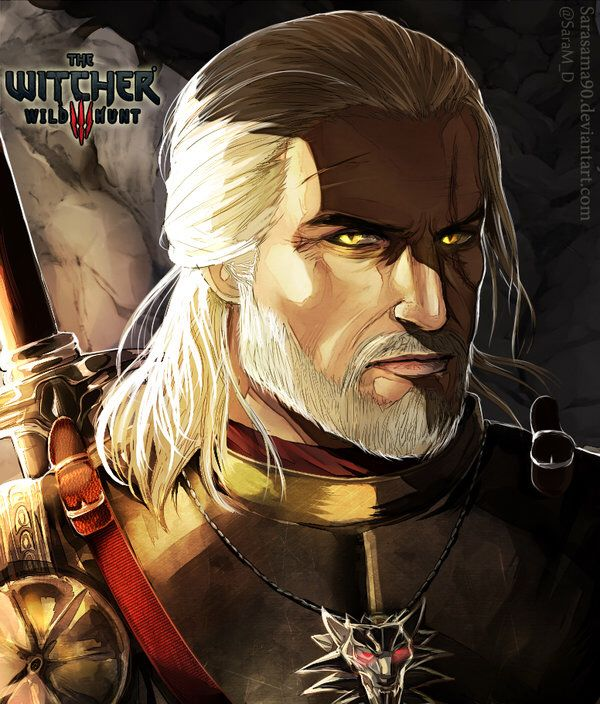 Geralt Fanart by Sarasama90 (@SaraM_D) http://sarasama90.deviantart.com/art/The-Witcher-3-Geralt-Of-Rivia-540308833