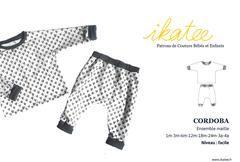 Patron de couture Ensemble maille Mixte CORDOBA 1m-4a – ikatee