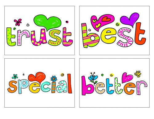 Help boost your child's self confidence with the help of these free flash cards. On this particular download you will find four