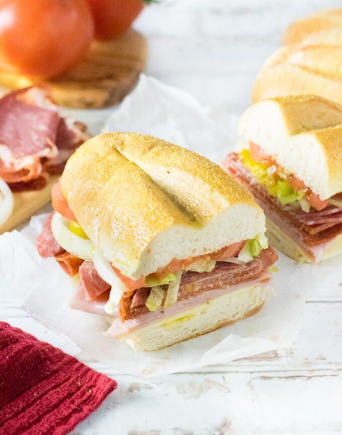 Italian Sub Sandwich Sub Sandwiches Italian Sub Recipes