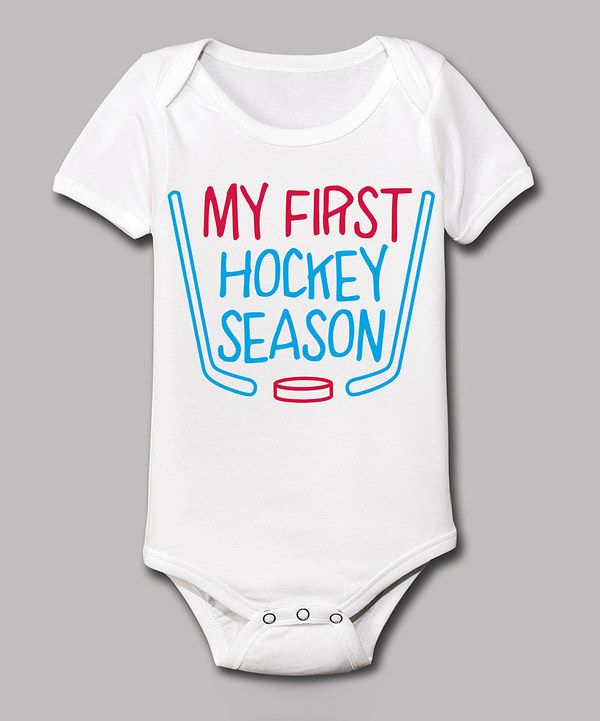 Look at this White 'My First Hockey Season' Bodysuit - Infant on #zulily today!
