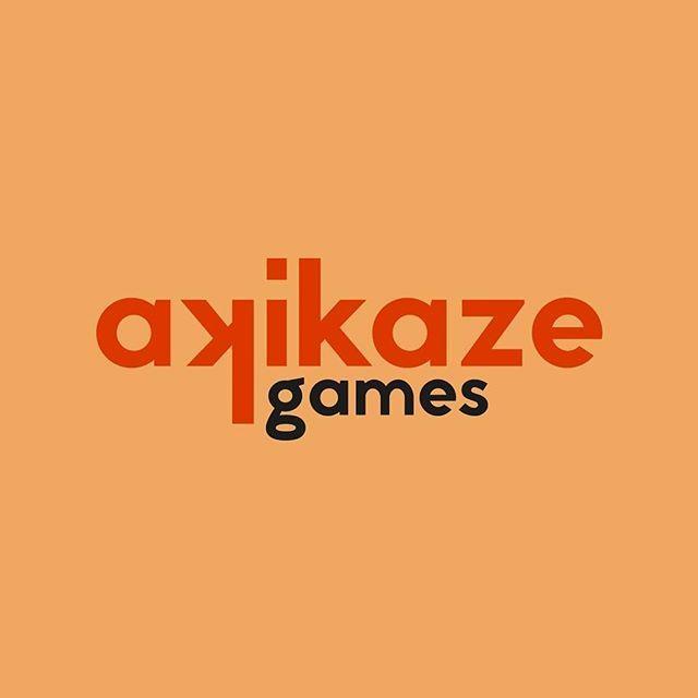 Akikaze games, the game studio behind Zombie League ___ #logo #logodesigner #graphicdesign #design #designer #branding #vector #flat #minimal #color #red #akikaze #autumn #wind #leaf #monogram #symbol