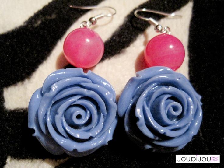 Orecchini - Rosa (colore blu)