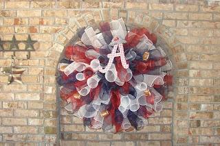 Big Alabama mesh curls wreath by RMR blog.